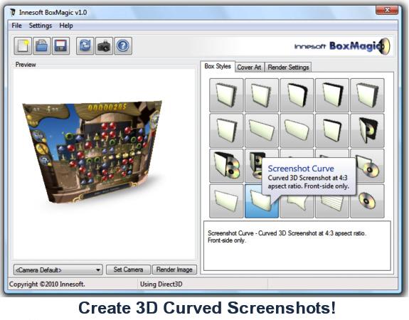 Innesoft BoxMagic, Design, Photo & Graphics Software Screenshot