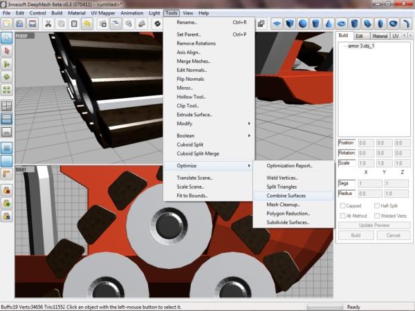 deepMesh, Graphic Design Software Screenshot