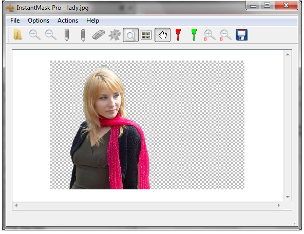 Photo Manipulation Software, InstantMask Pro Screenshot