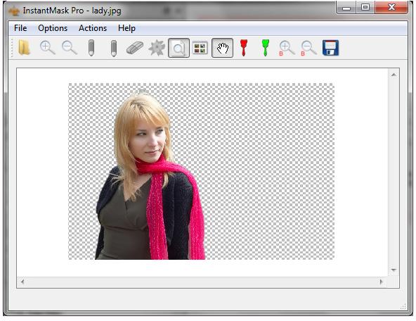 Photo Manipulation Software, InstantMask Pro Screenshot