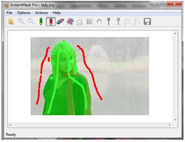 InstantMask Pro, Photo Manipulation Software Screenshot