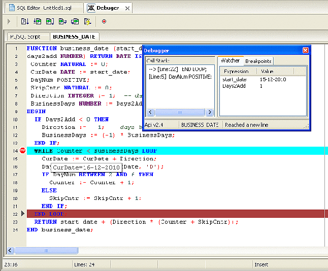 Development Software, Insight Developer for Oracle Screenshot