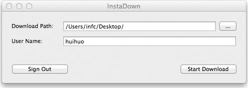 InstaDown for Mac Screenshot