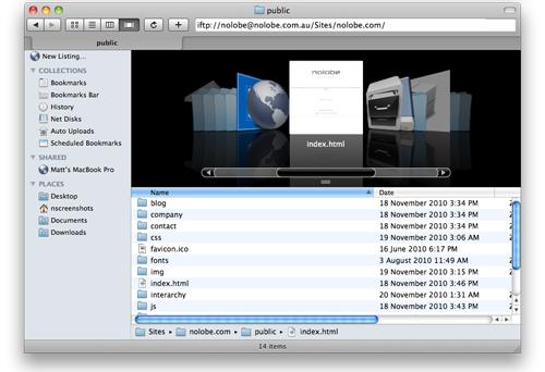Interarchy, FTP Software Screenshot