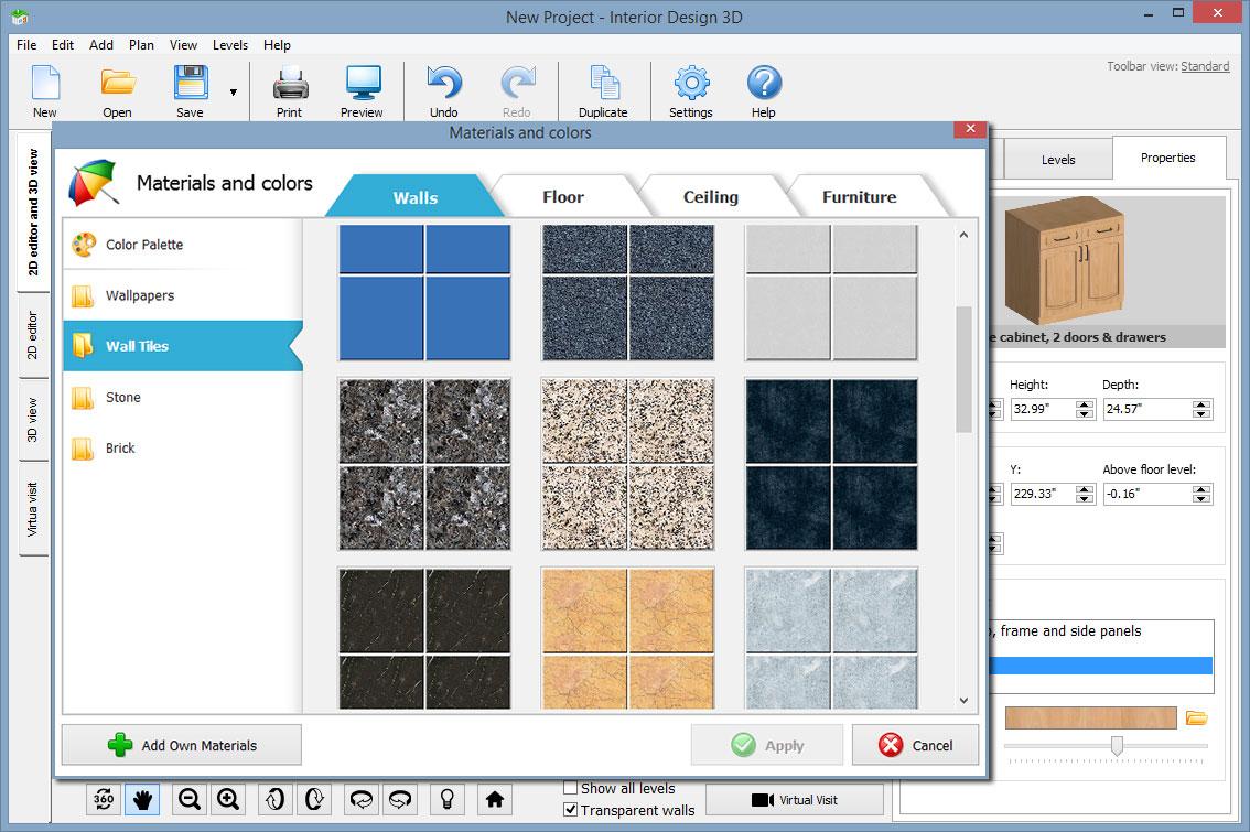 Design, Photo & Graphics Software, Interior Design 3D - Gold Version Screenshot