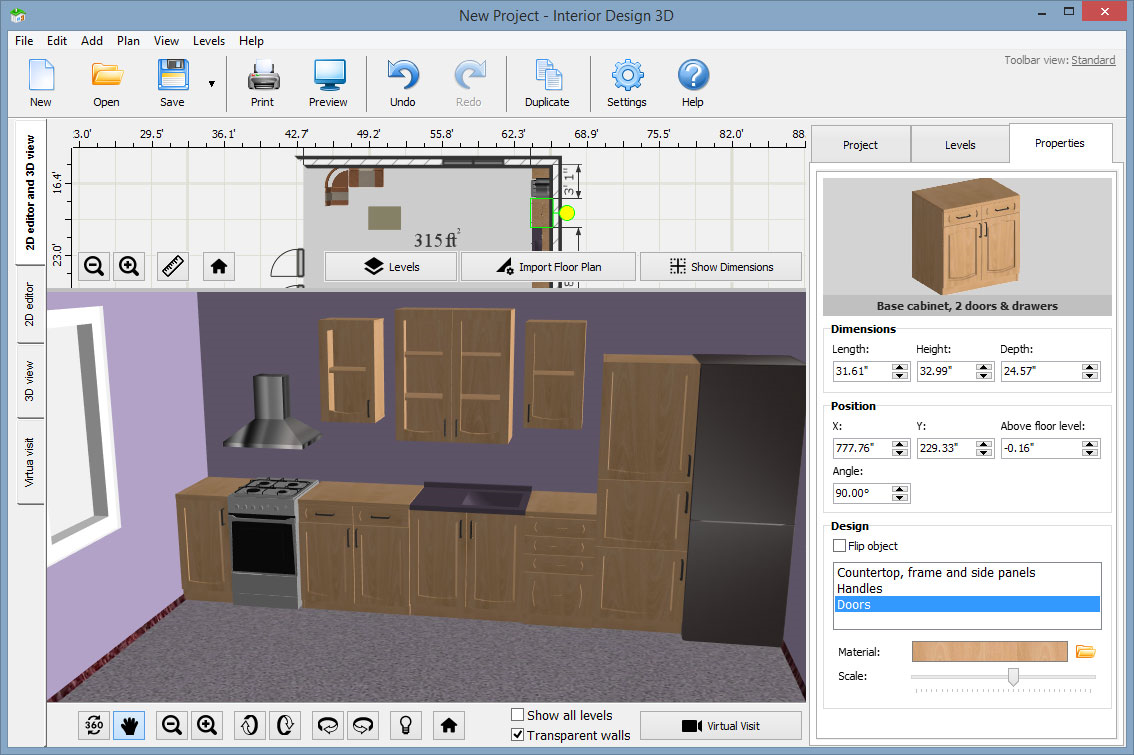 Interior Design 3D - Gold Version, Graphic Design Software Screenshot