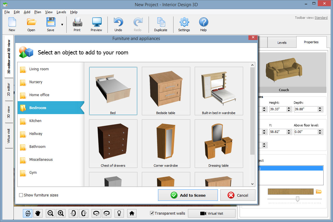 Interior Design 3D Gold Version Graphic Design Software 60%