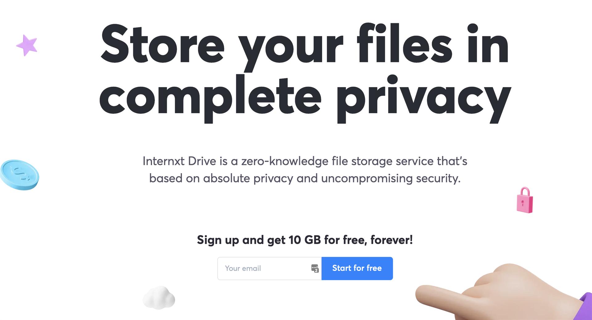 Internxt Drive Screenshot
