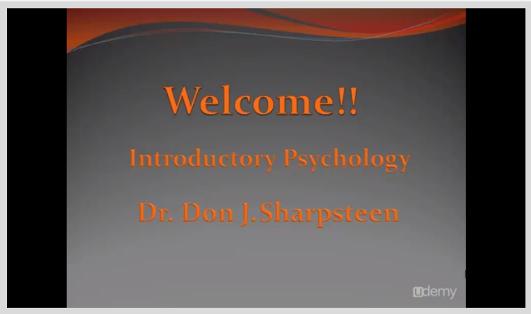 Introductory Psychology -- A Video Textbook Screenshot