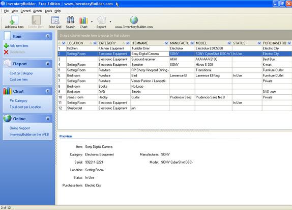InventoryBuilder Enterprise Screenshot