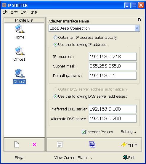 IP Shifter Screenshot