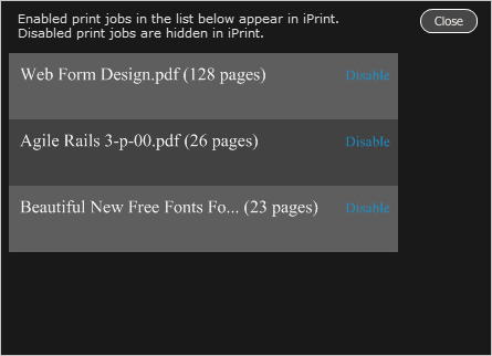 Printing Software, iPrint Screenshot