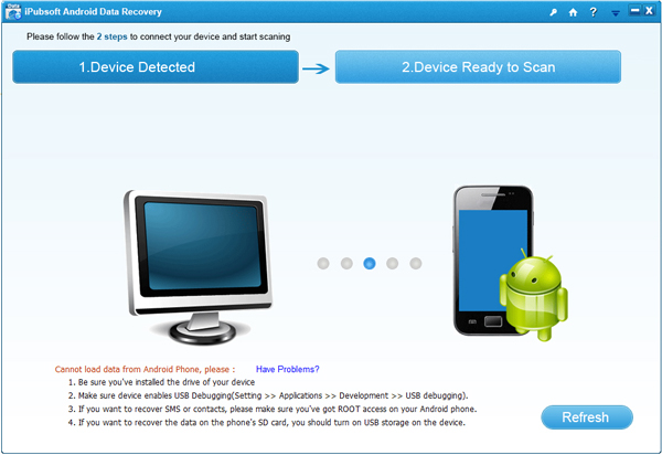 iPubsoft Android Data Recovery Screenshot