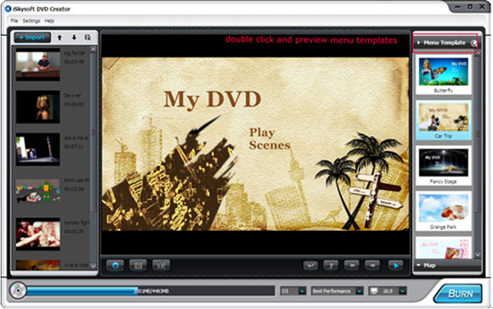 iSkysoft DVD Creator, DVD Copy Software Screenshot