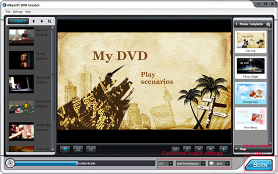 Video Software, iSkysoft DVD Creator Screenshot