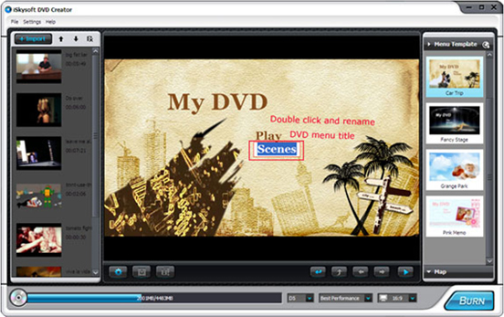 DVD Copy Software, iSkysoft DVD Creator Screenshot