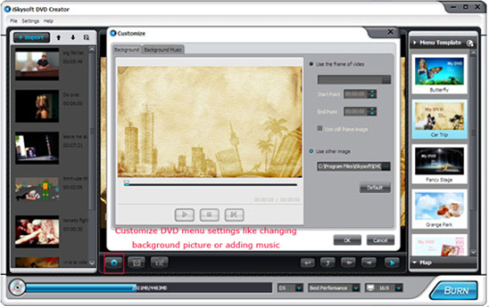 iSkysoft DVD Creator, Video Software Screenshot