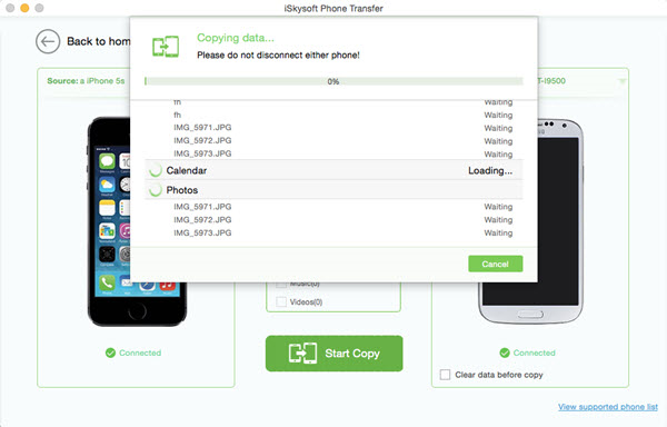 iSkysoft Phone Transfer Screenshot 8