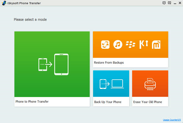 iSkysoft Phone Transfer Screenshot