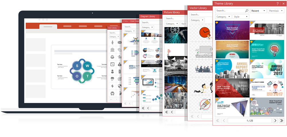 iSlide PowerPoint Add-in Screenshot