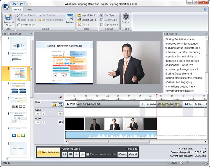 Document Conversion Software, iSpring Pro 6 Screenshot