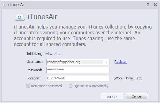iTunesAir Screenshot
