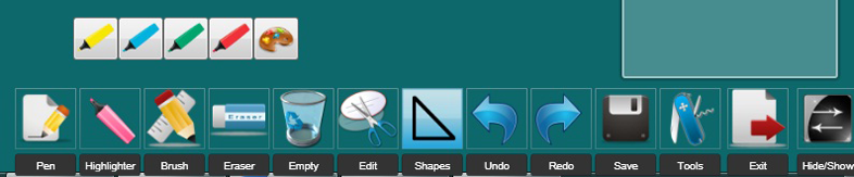 iWiiBoard Whiteboard Software, Presentation Software Screenshot