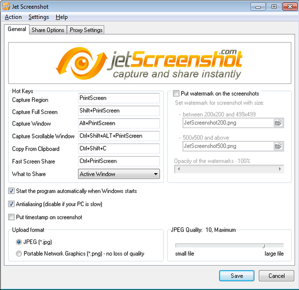 Jet Screenshot Pro, Screenshot Software Screenshot