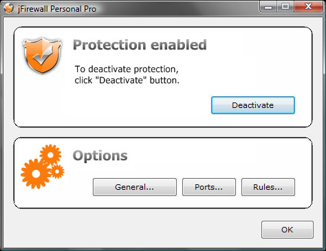 jFirewall Personal Pro Screenshot