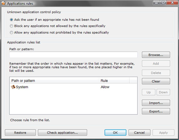 jFirewall Personal Pro, Security Software, Activity Monitoring Software Screenshot