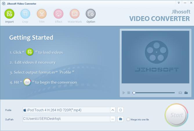 Jihosoft Video Converter Screenshot