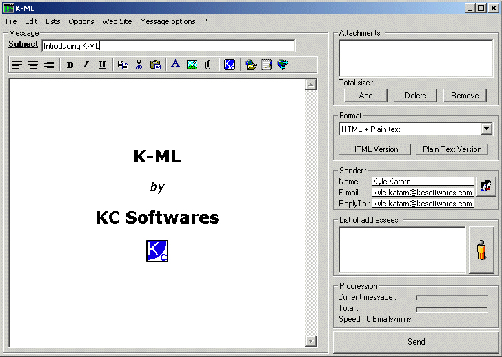 K-ML Screenshot