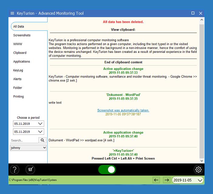 Keyturion Screenshot