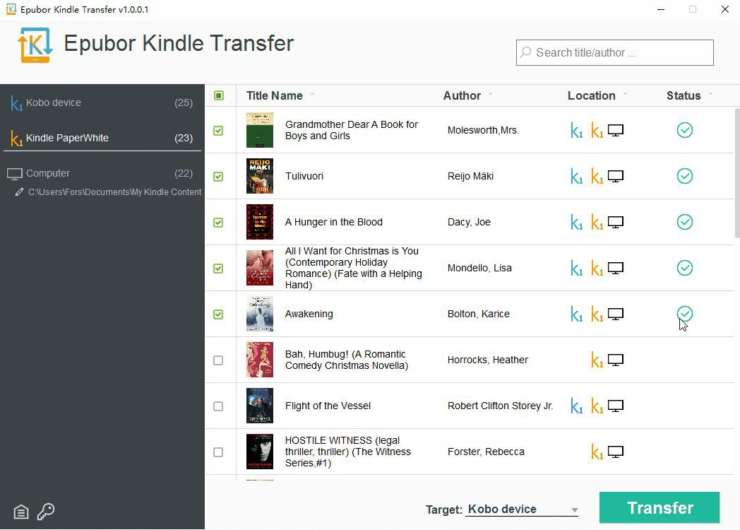 eBook Software Screenshot
