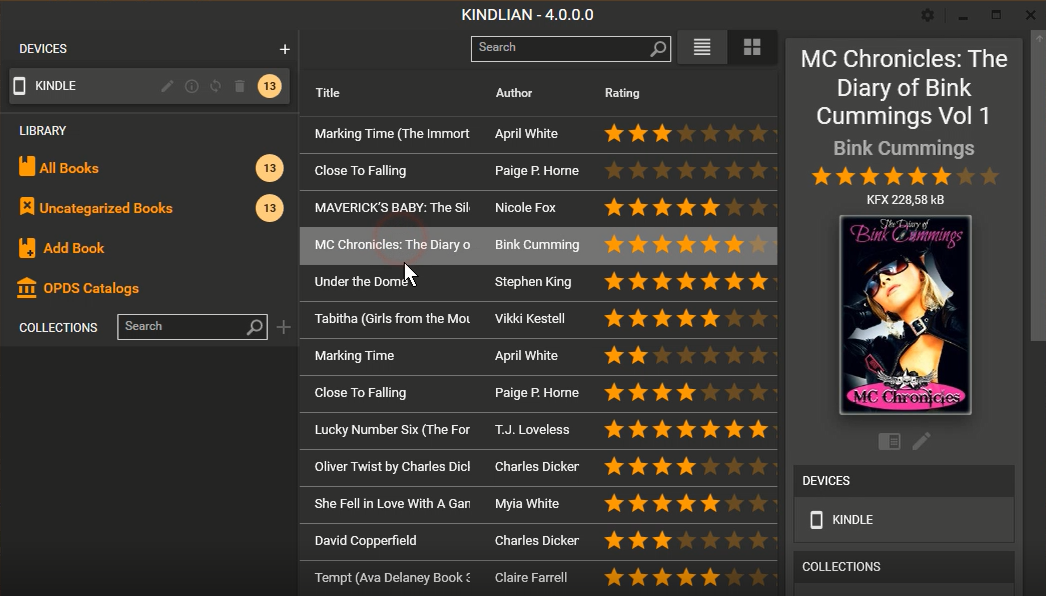 Kindlian, Organization Software Screenshot