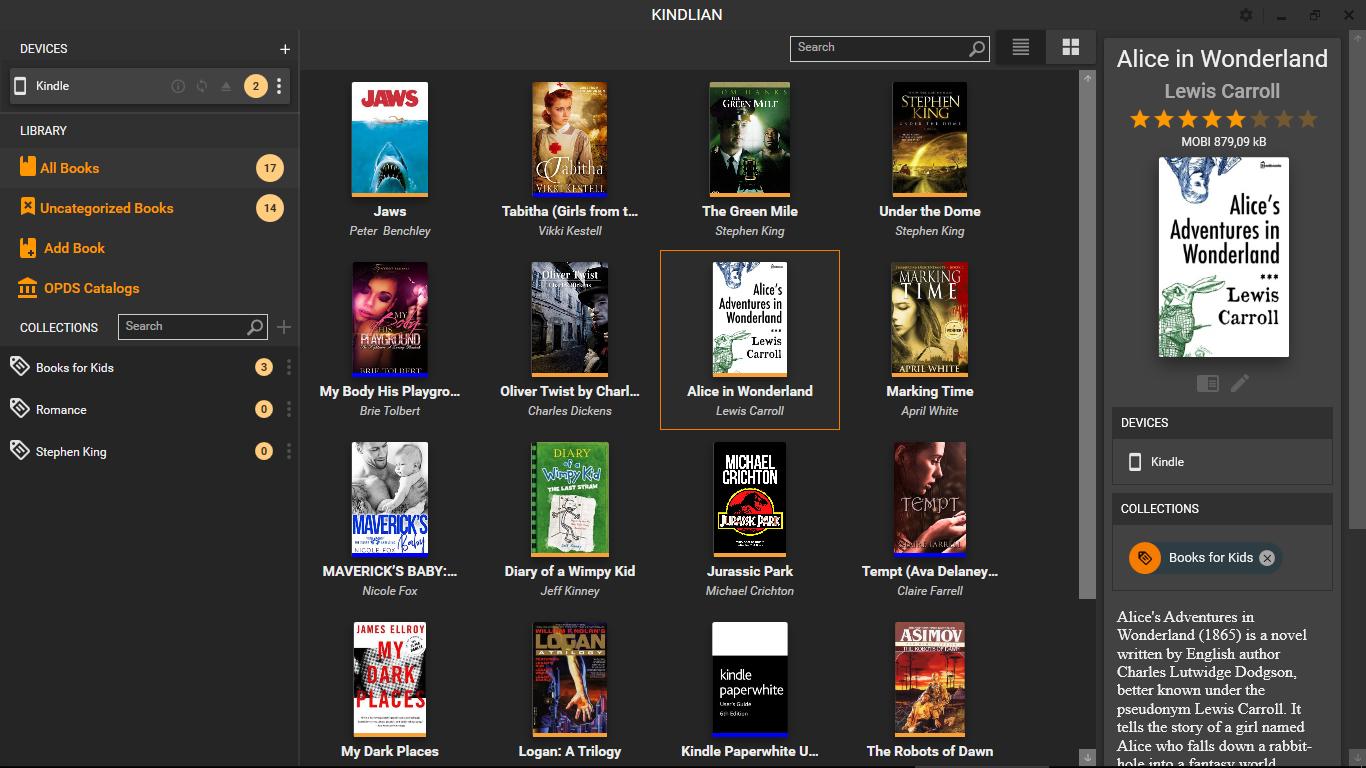 Kindlian, Productivity Software Screenshot