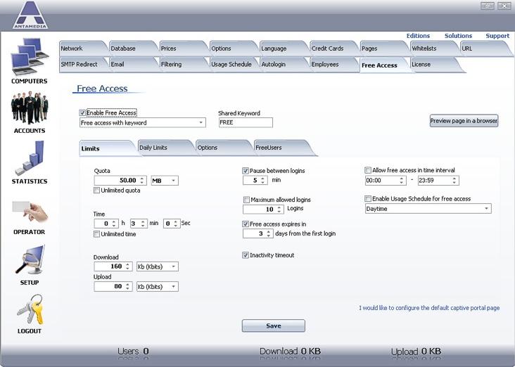 Security Software, Hotspot Software Screenshot