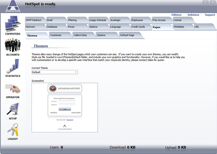 Hotspot Software, Security Software, Access Restriction Software Screenshot