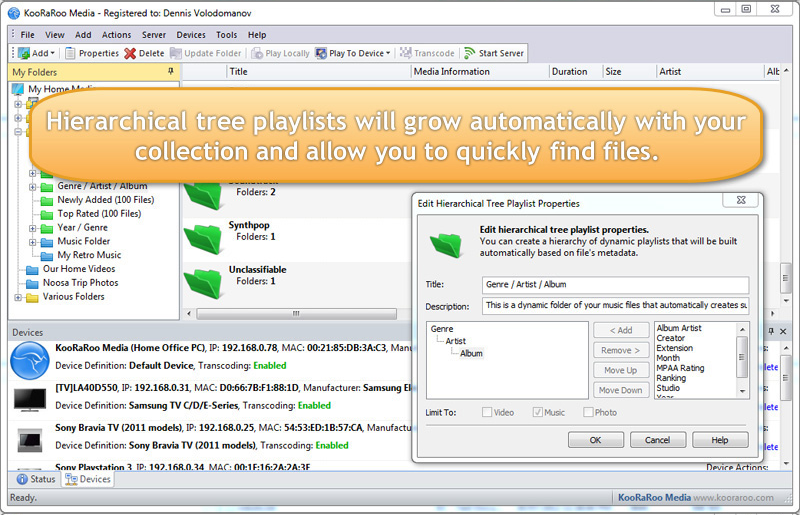 Other Utilities Software, KooRaRoo Media Screenshot