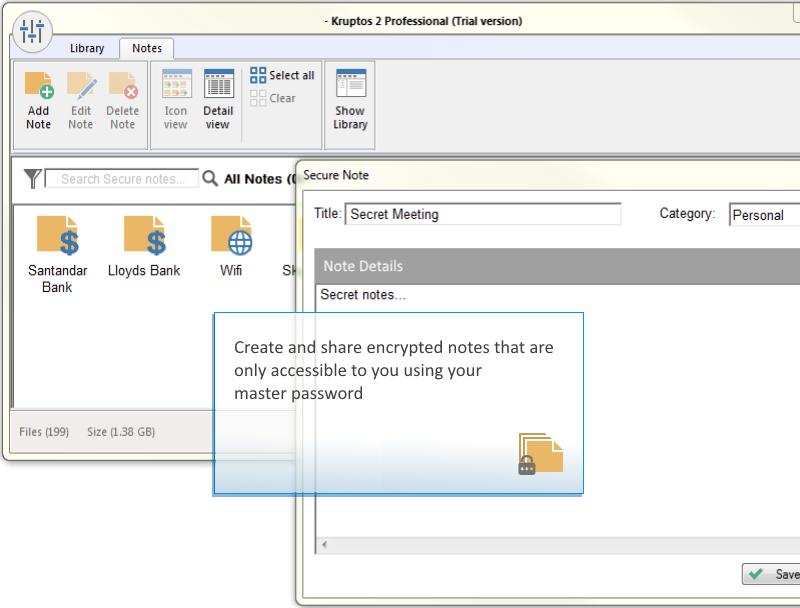 Kruptos 2 Professional, Security Software, Access Restriction Software Screenshot