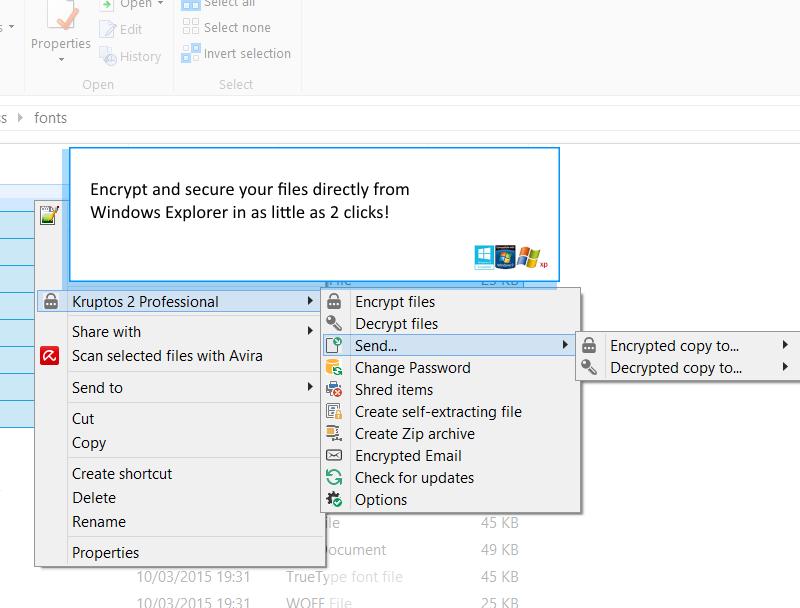 Kruptos 2 Professional, Security Software Screenshot
