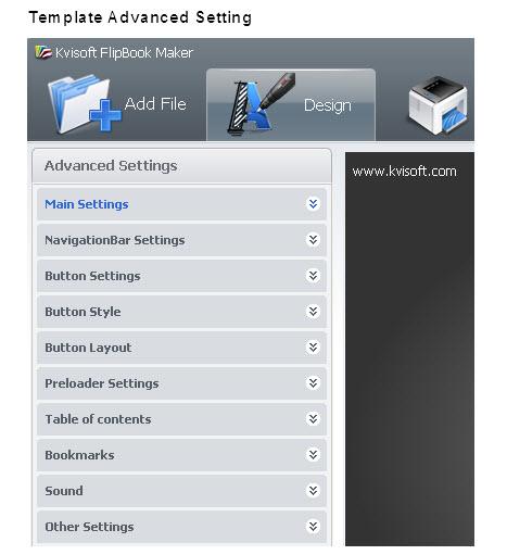Kvisoft Flipbook Maker, PDF Conversion Software Screenshot