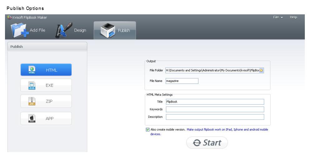 Kvisoft Flipbook Maker, Business & Finance Software Screenshot