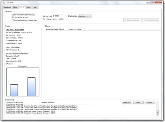 LanCastR, Business Management Software Screenshot