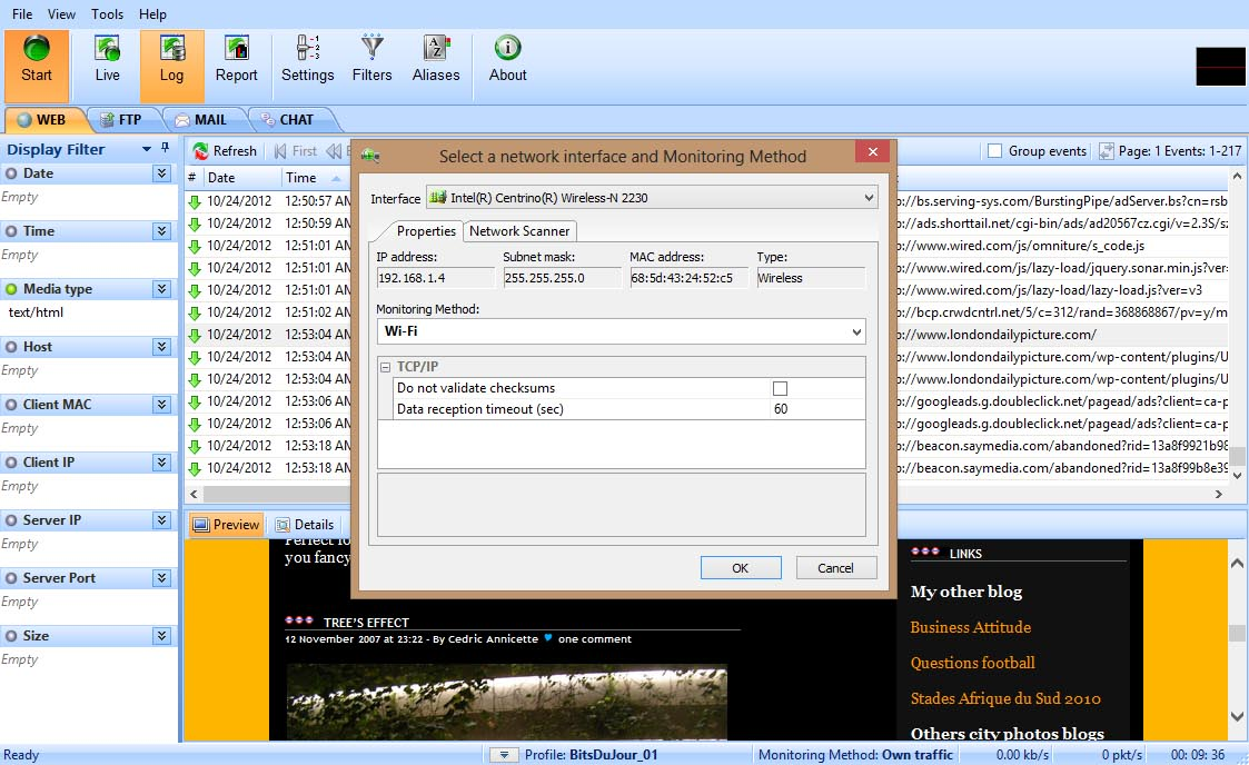 LanDetective Internet Monitor Screenshot