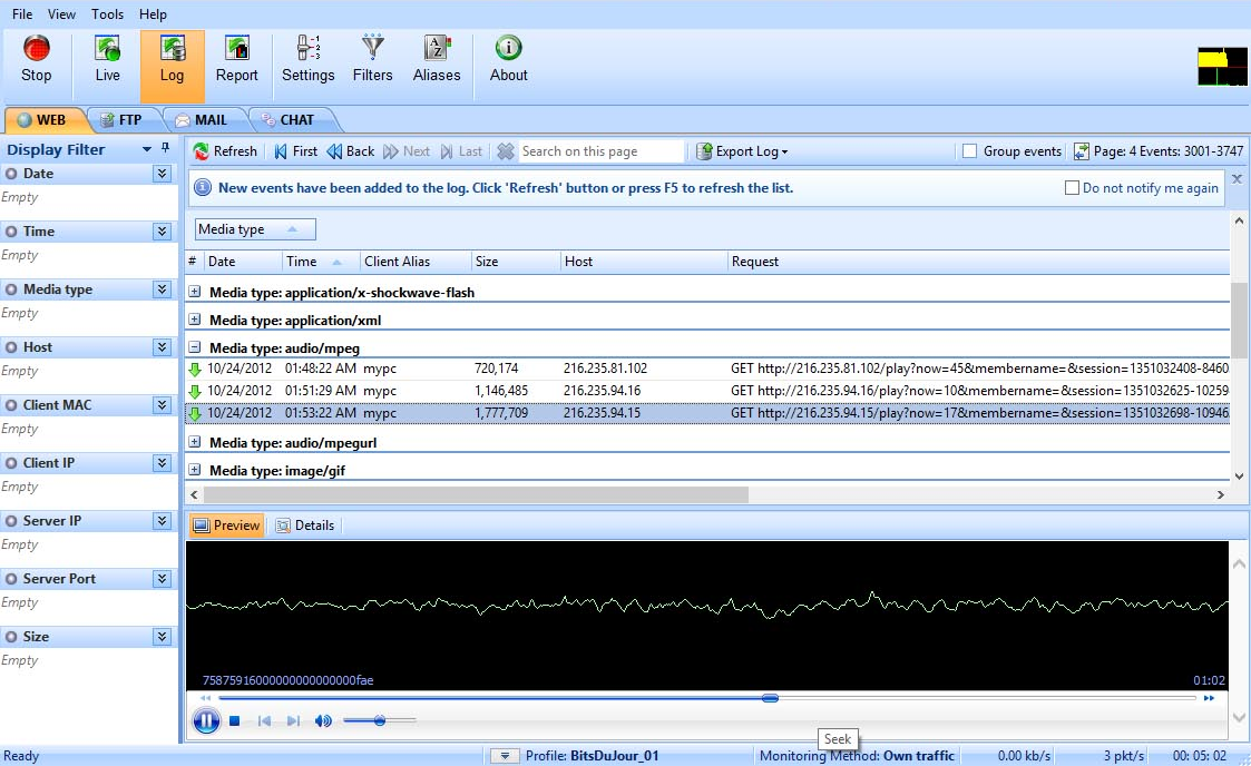 LanDetective Internet Monitor, Security Software Screenshot