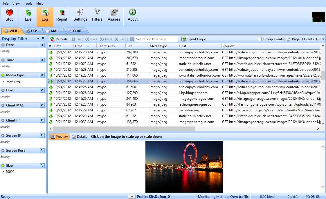 LanDetective Internet Monitor, Activity Monitoring Software Screenshot