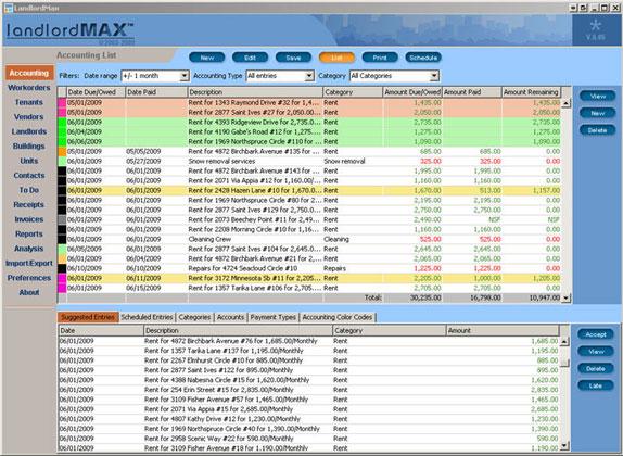 LandlordMax Property Management Software Screenshot