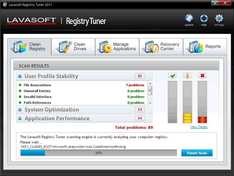 Registry Cleaner Software Screenshot