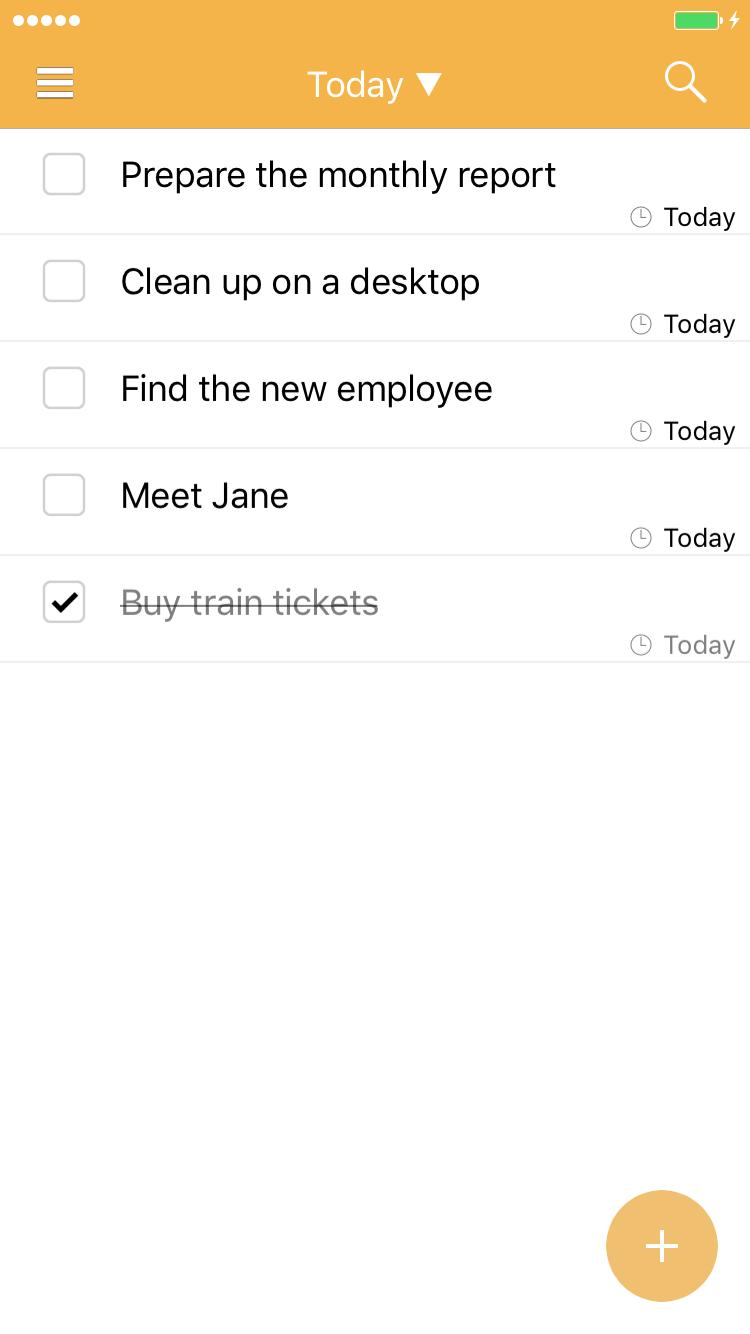 Productivity Software, To-Do List Software Screenshot